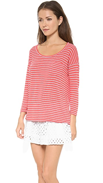 Splendid Lagoon Stripe Dolman Top