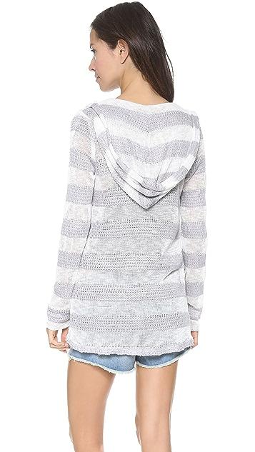 Splendid Saharan Stripe Hooded Cardigan