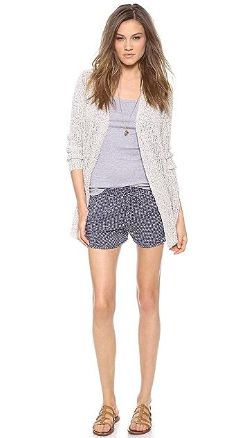 Splendid Basket Weave Print Shorts