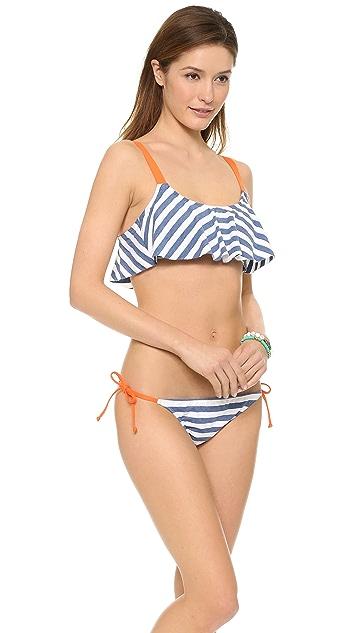 Splendid The Blues Crop Bikini Top