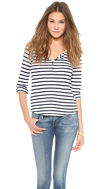 Splendid Striped Henley Top