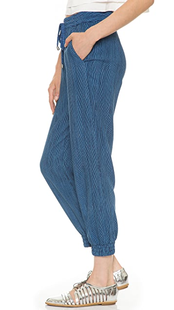 Splendid Pinstripe Jogging Pants