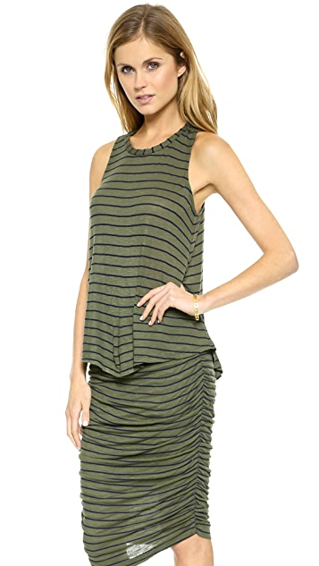 Splendid New Haven Stripe Drapey Lux Tank