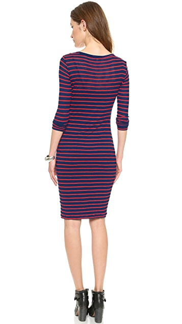 Splendid New Haven Stripe Henley Dress