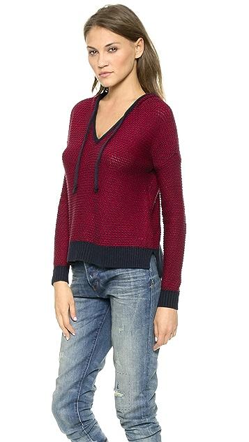 Splendid Pop Stitch Hooded Sweater