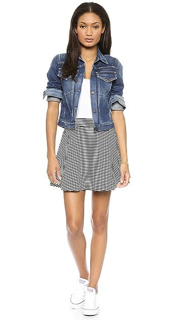 Splendid Belmont Stripe Miniskirt
