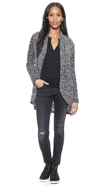 Splendid Hudson Melange Loose Knit Cardigan