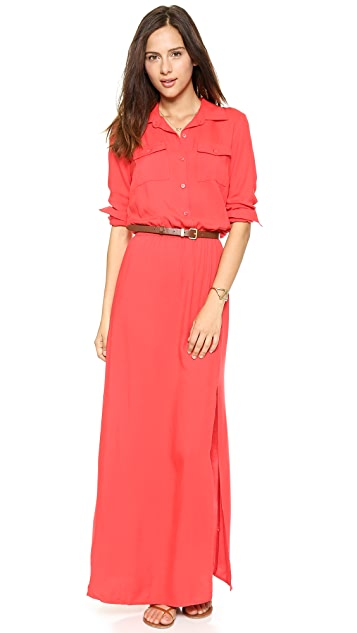 Splendid Maxi Woven Shirtdress