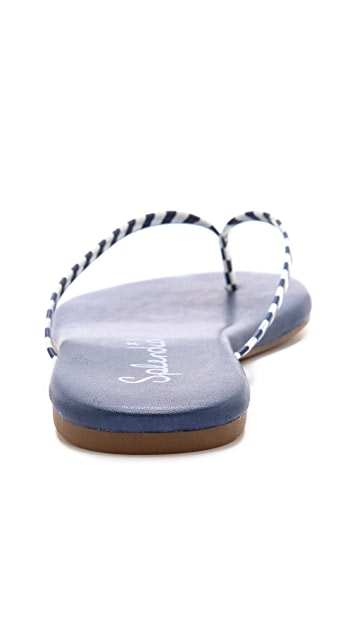Splendid Madrid Striped Flip Flops