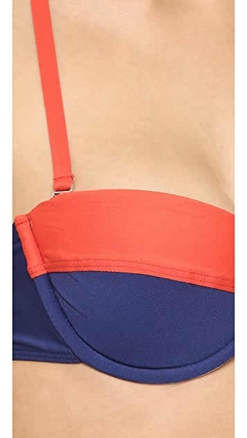 Splendid Sunblock Solids Underwire Bikini Top