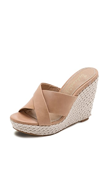 Splendid Dinah Rope Crisscross Wedge Slides