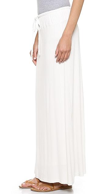 Splendid Drawstring Maxi Skirt