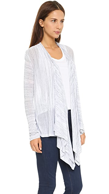 Splendid Space Dye Luxe Jersey Cardigan