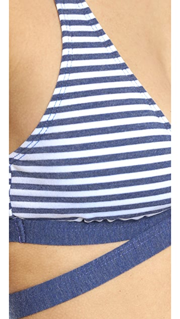 Splendid Malibu Stripe Bikini Top