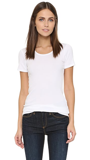 Splendid 1x1 Short Sleeve Crew Neck Tee