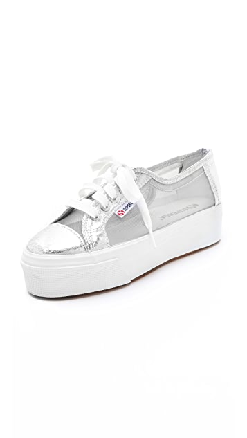 Superga Platform Net Sneakers