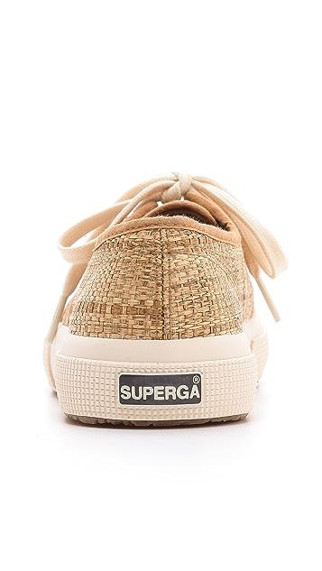 Superga Cotu Raffia Sneakers