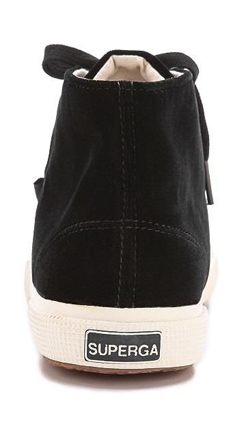 Superga The Man Repeller X Superga Velvet High Top Sneaker