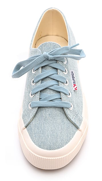 Superga Denim Printed Sneakers