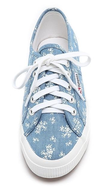 Superga Denim Printed Sneakers