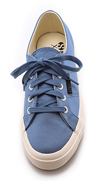 Superga The Man Repeller x Superga Satin Classic Sneakers
