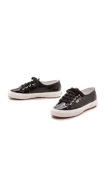 Superga 2750 Patent Croc Sneakers