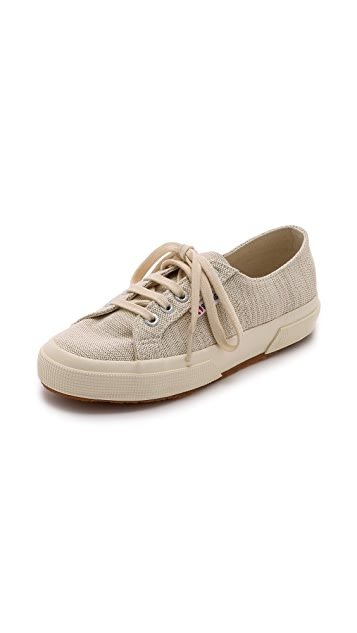 Superga Cotu Metallic Linen Sneakers