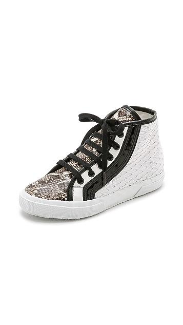 Superga Rodarte x Superga Net Snake High Top Sneakers