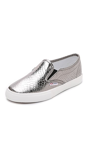 Superga 2311 Metallic Snake Slip On Sneakers