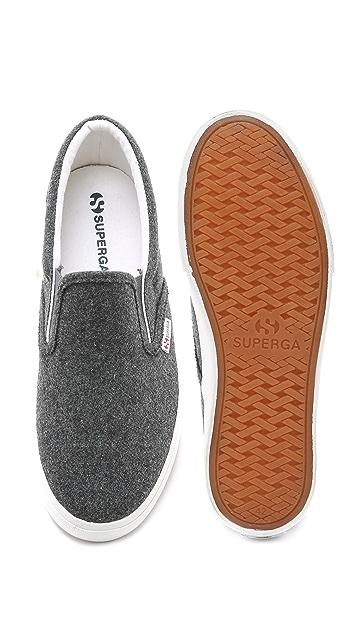 Superga 2311 Wool Cotu Slip On Sneakers