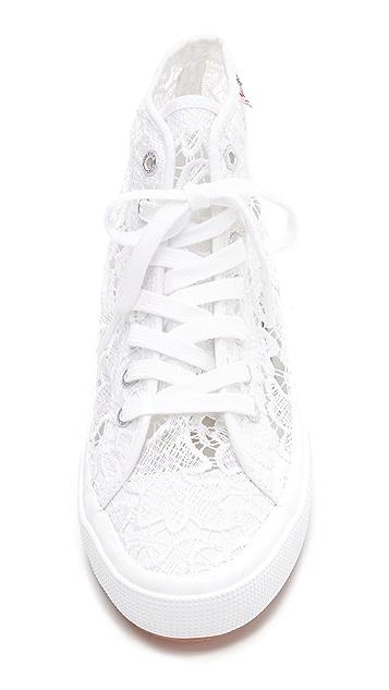 Superga Macrame High Top Sneakers