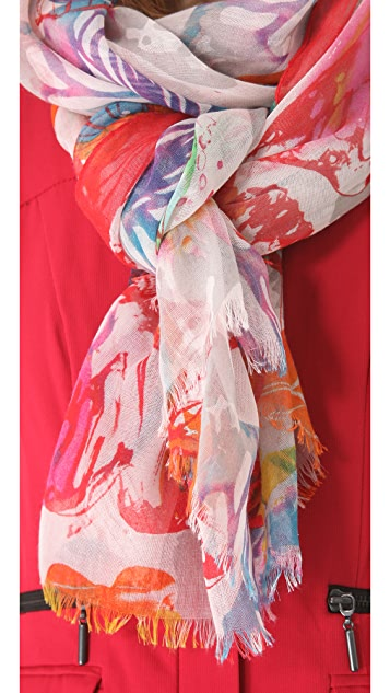 Spun Scarves by Subtle Luxury Butterfly Stamp Scarf