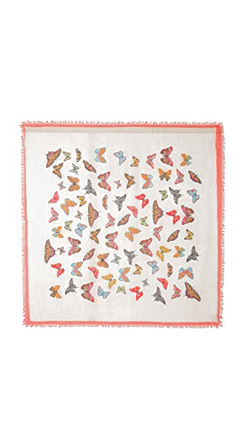 Spun Scarves by Subtle Luxury Butterfly Flight Scarf