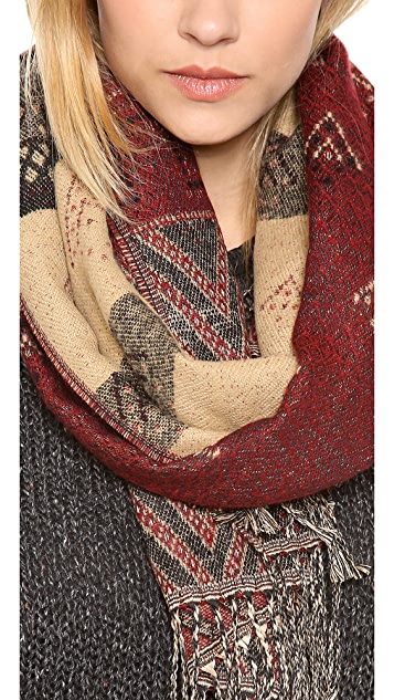 Spun Scarves by Subtle Luxury Aztec Border Scarf