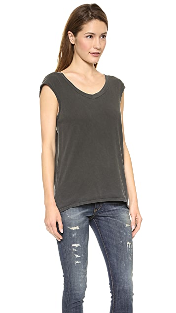 Stateside V Neck Muscle Tee