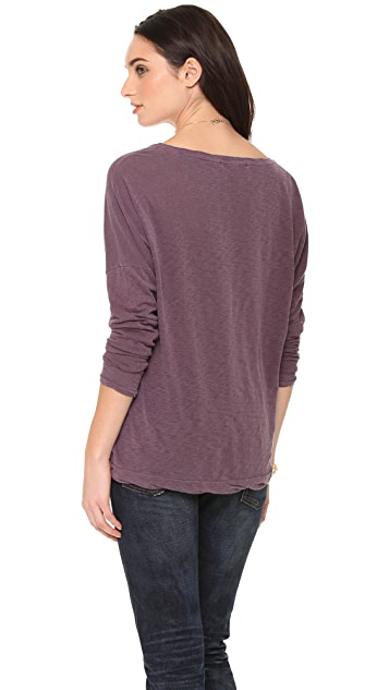 Stateside Long Sleeve Tee with Pocket Detail