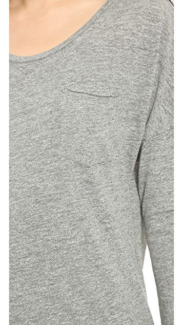 Stateside Heather Long Sleeve Pocket Tee