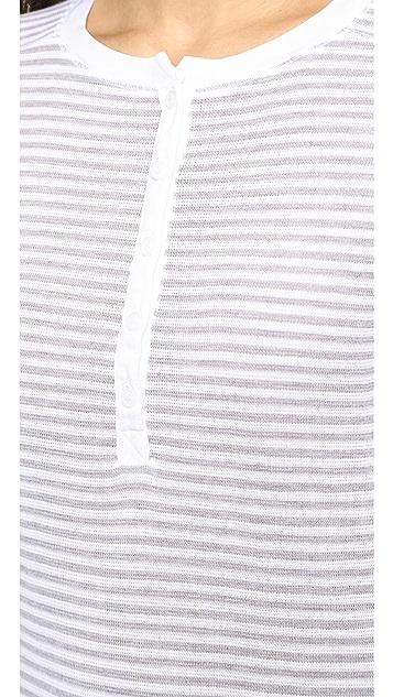 Stateside Skinny Stripe Thermal Henley