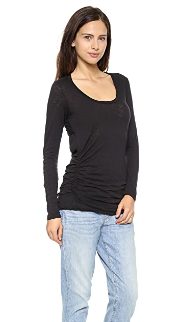 Stateside Ruched Long Sleeve Tee