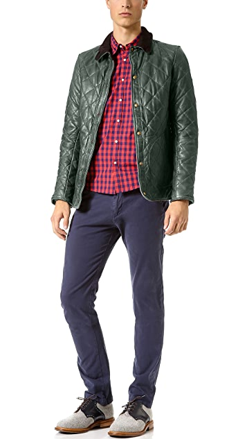 Scotch & Soda Quilted Leather Jacket | EAST DANE Use Code EDNC18 ... : scotch and soda quilted leather jacket - Adamdwight.com