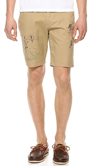 Scotch & Soda Pleated Chino Shorts