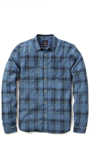 306e72b2290 Scotch & Soda Japanese Plaid Work Shirt | EAST DANE