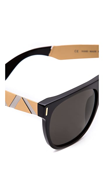 Super Sunglasses Flat Top Saldatura Sunglasses
