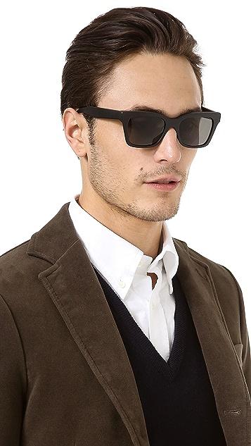 Super Sunglasses America Black Matte Sunglasses