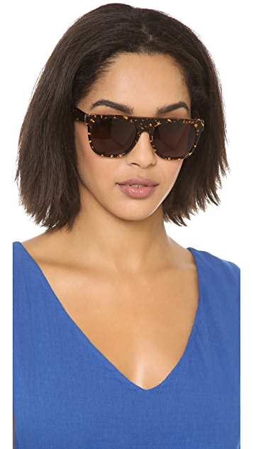 Super Sunglasses Flat Top Screamer Sunglasses