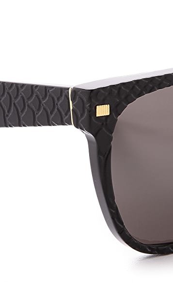 Super Sunglasses Flat Top Goffrato Sunglasses