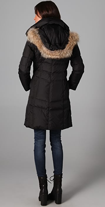 state & lake Mercy Jacket with Fur Trim