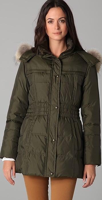 state & lake Major Jacket with Fur Trim