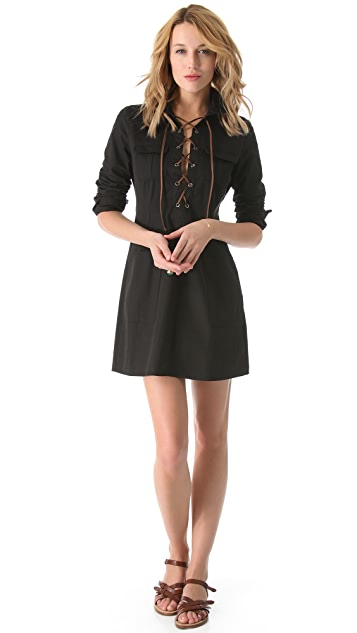state & lake Lace Up Dress