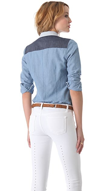 state & lake Colorblock Chambray Shirt